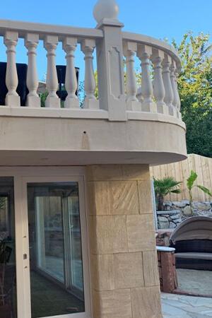 Balustraden für einen Balkon