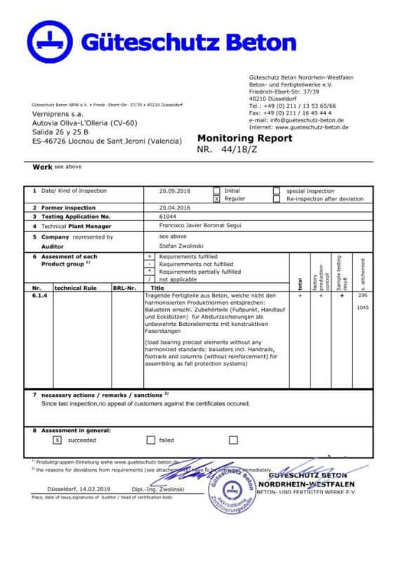Gueterschutz Beton Zertifikat 1